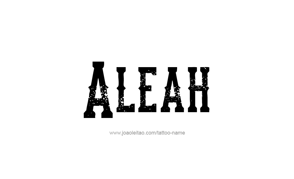 Tattoo Design  Name Aleah