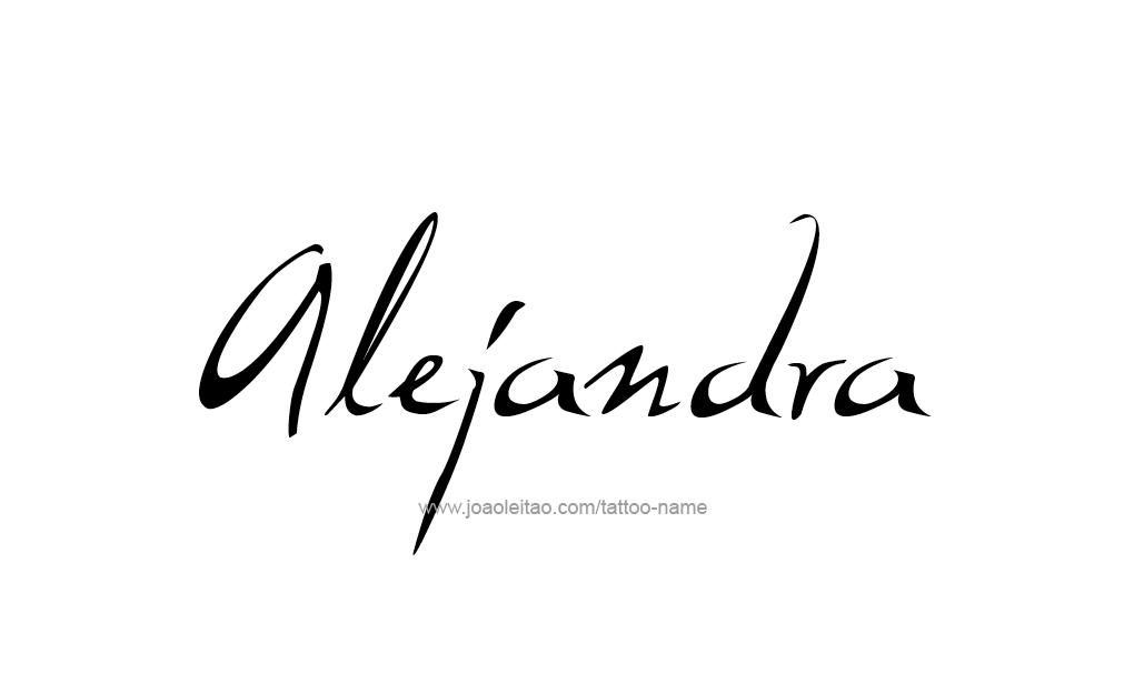Tattoo Design  Name Alejandra