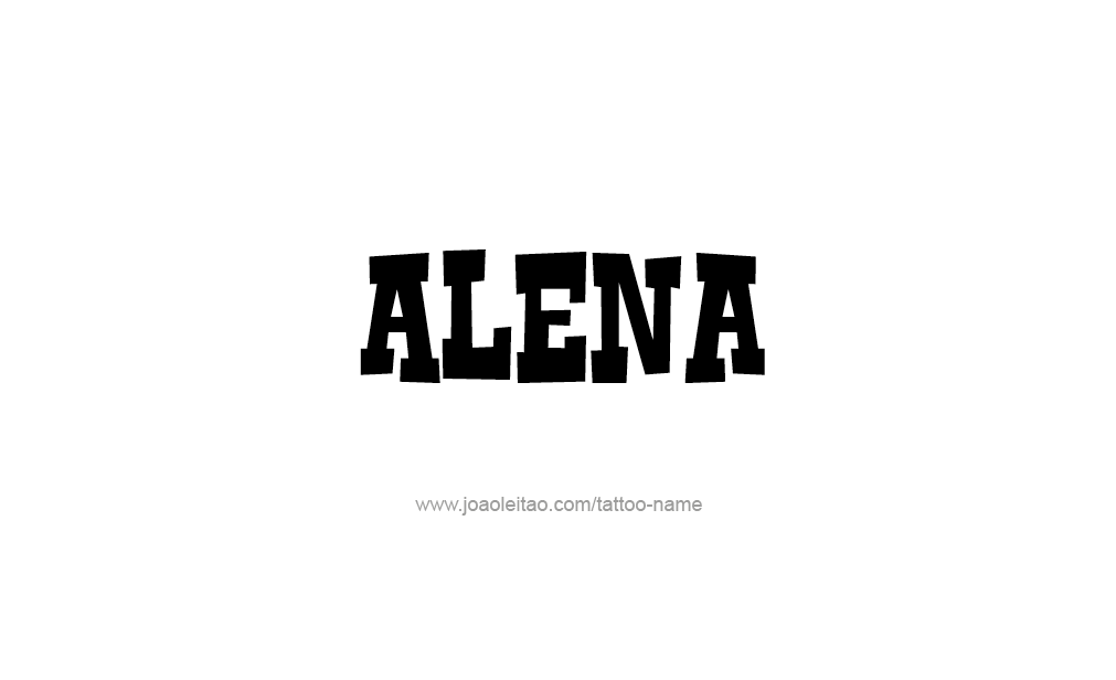 Tattoo Design  Name Alena