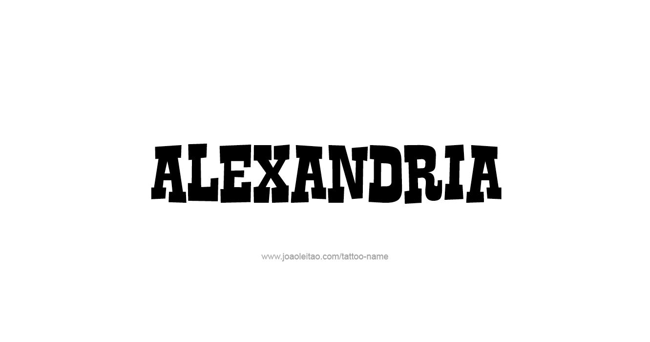 Tattoo Design  Name Alexandria