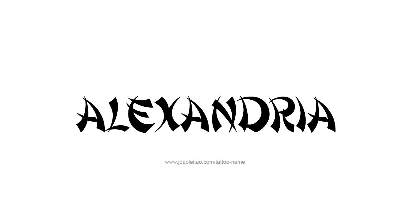 Tattoo Design  Name Alexandria
