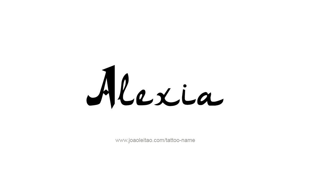 Tattoo Design  Name Alexia