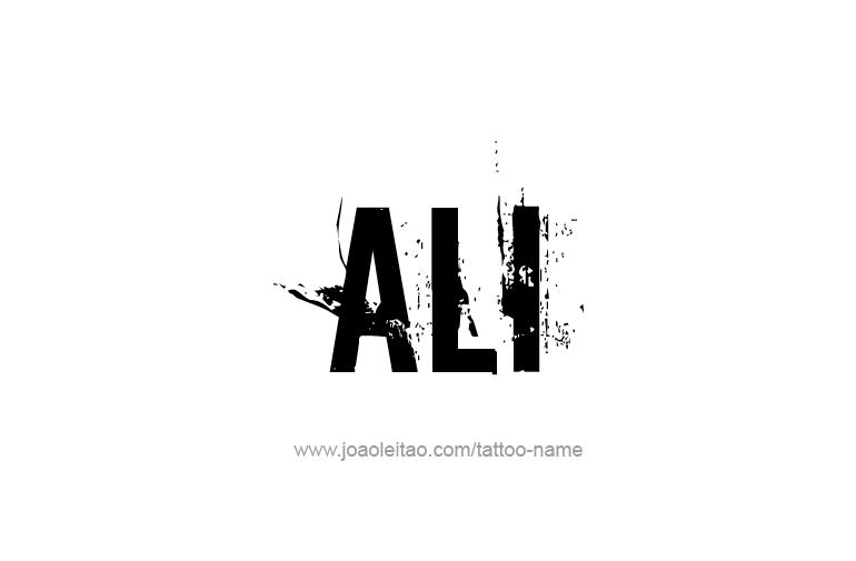 Tattoo Design  Name Ali