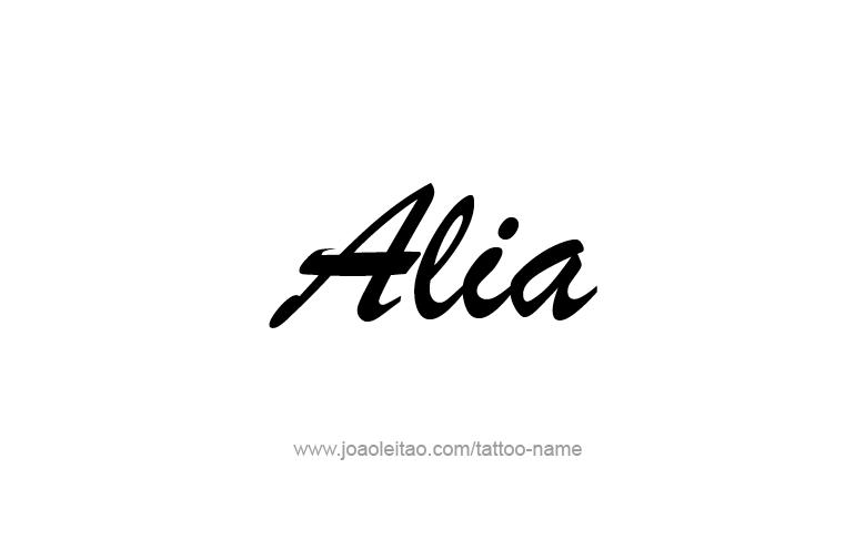 Tattoo Design  Name Alia