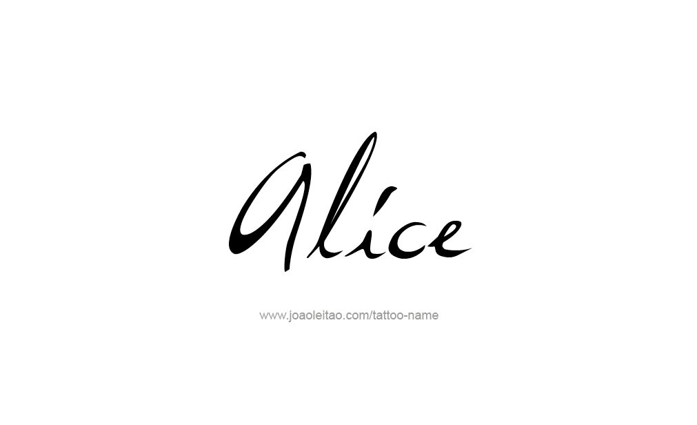 Tattoo Design  Name Alice