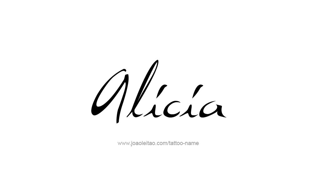 Tattoo Design  Name Alicia