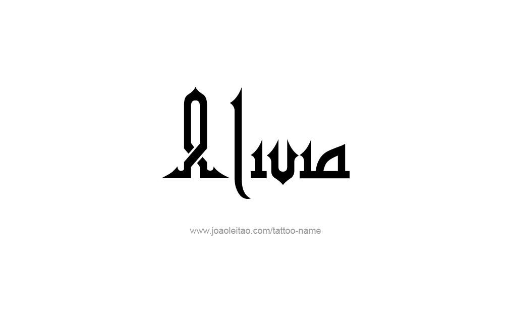 Tattoo Design  Name Alivia