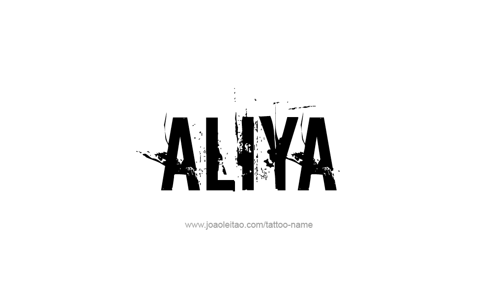 Tattoo Design  Name Aliya