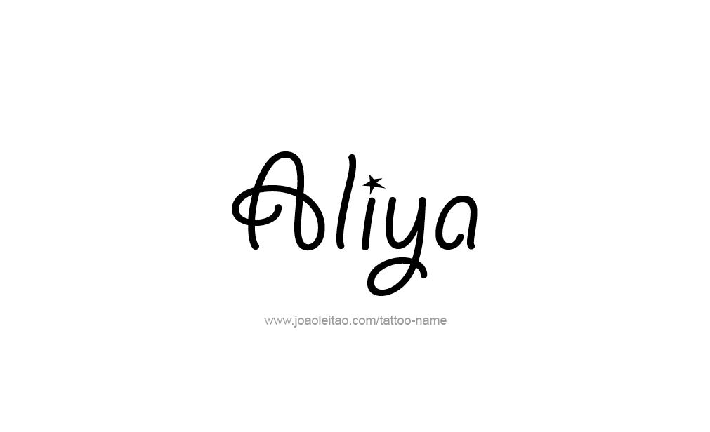 Tattoo Design  Name Aliya