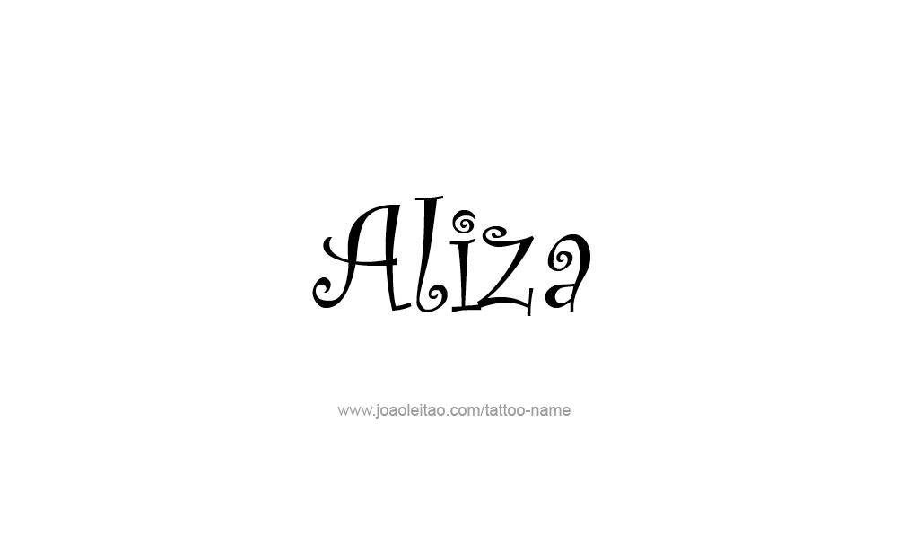 Tattoo Design  Name Aliza