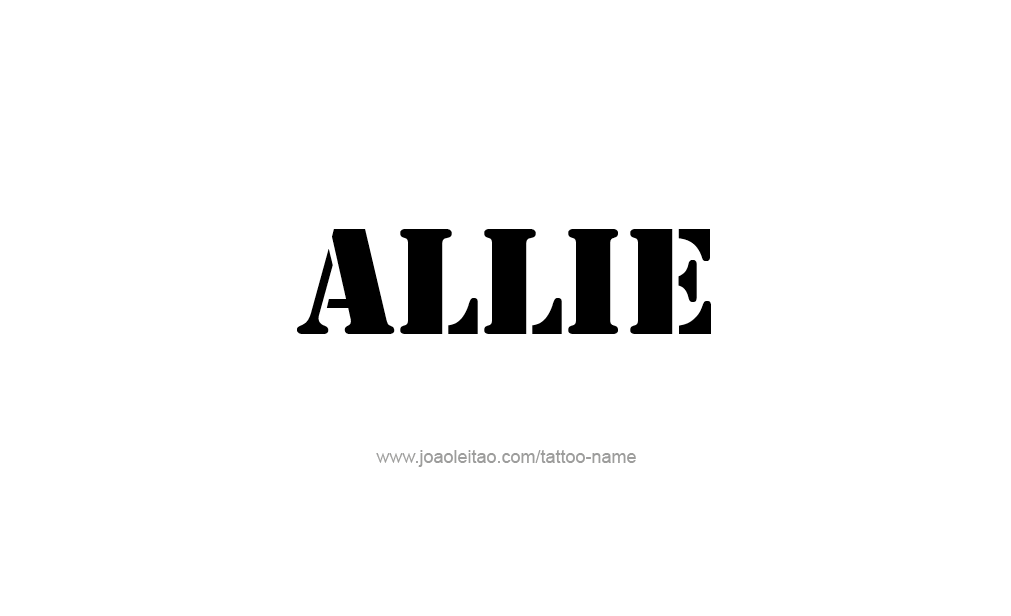 Tattoo Design  Name Allie
