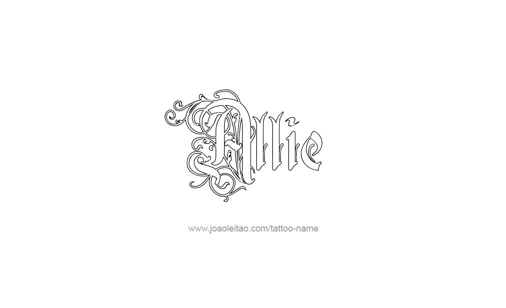 Tattoo Design  Name Allie