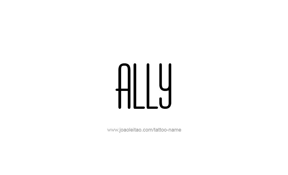 Tattoo Design  Name Ally