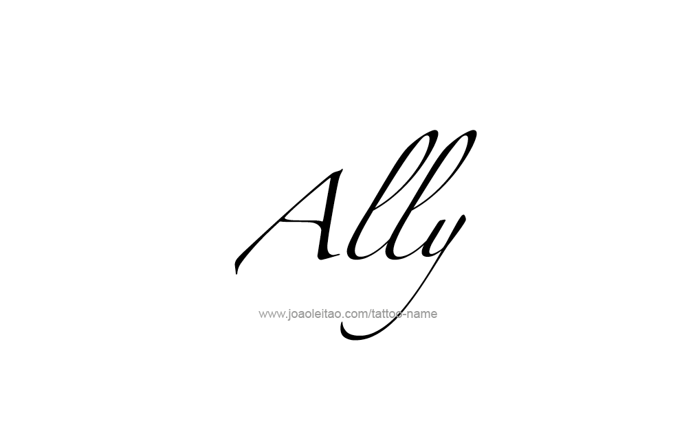 Ally Name Tattoo Designs