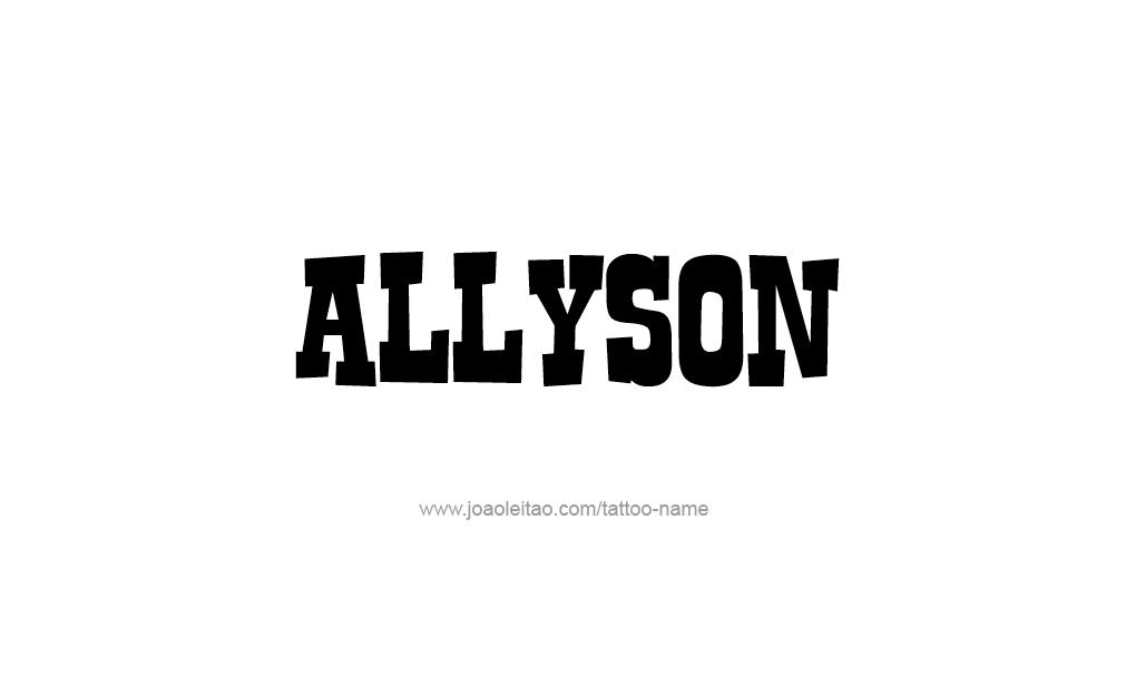 Tattoo Design  Name Allyson