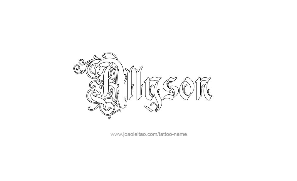 Tattoo Design  Name Allyson
