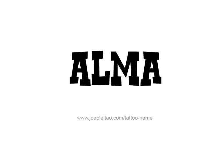 Tattoo Design  Name Alma