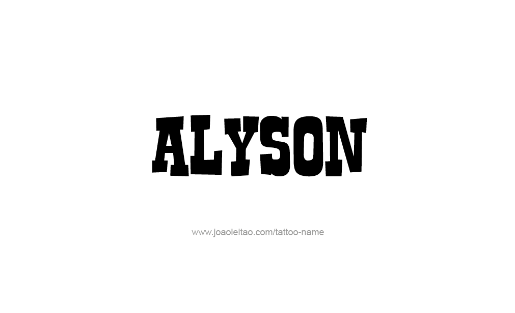 Tattoo Design  Name Alyson