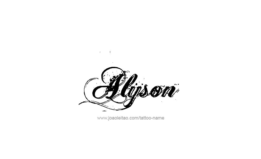 Tattoo Design  Name Alyson