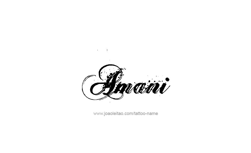 Tattoo Design  Name Amani