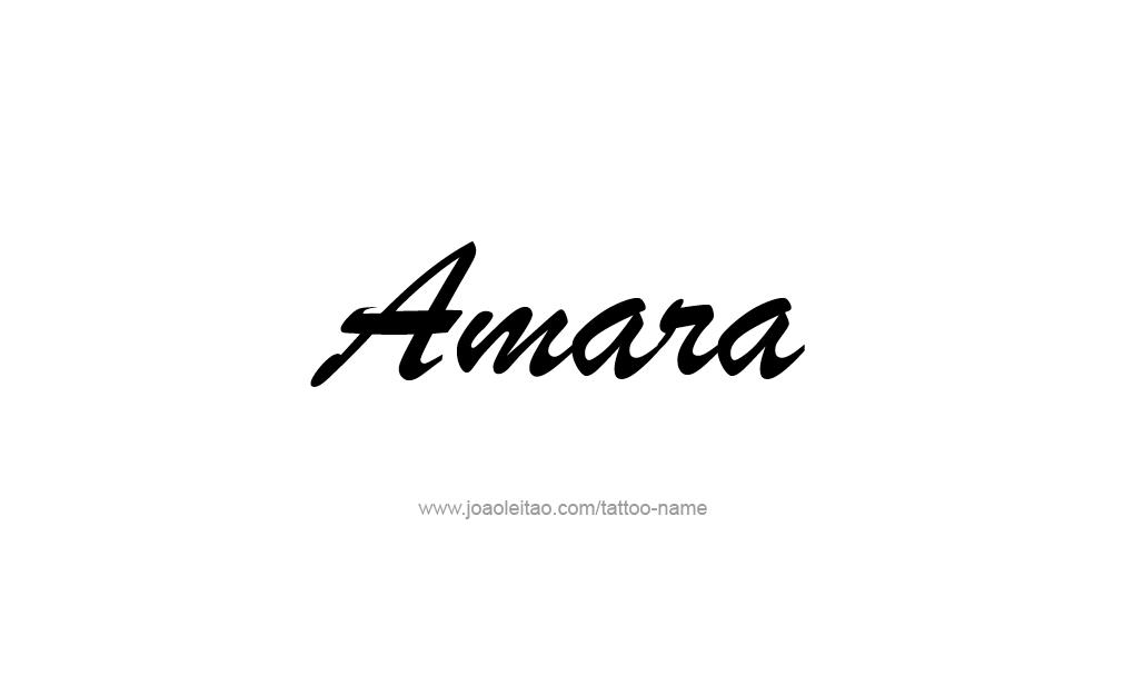 Tattoo Design  Name Amara