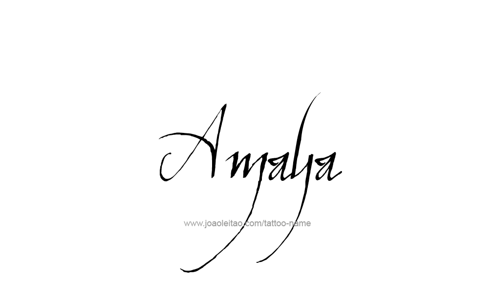 Tattoo Design  Name Amaya