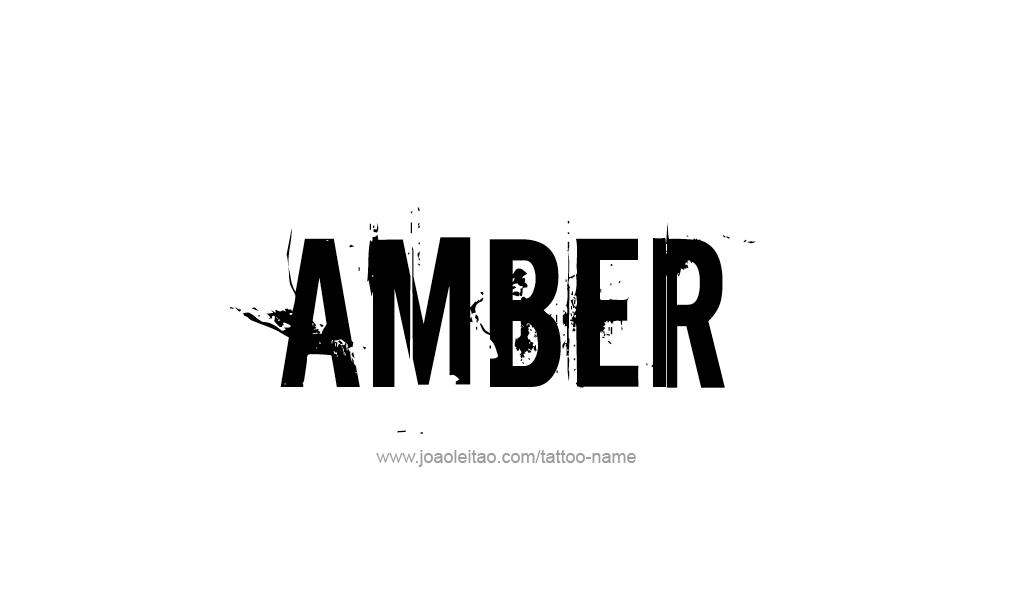 Tattoo Design  Name Amber