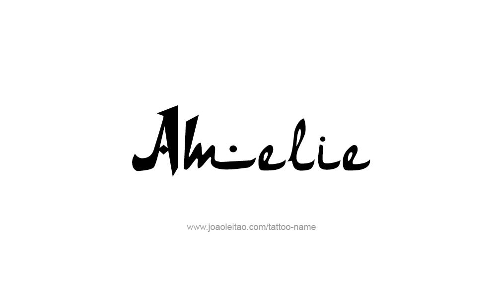 Tattoo Design  Name Amelie