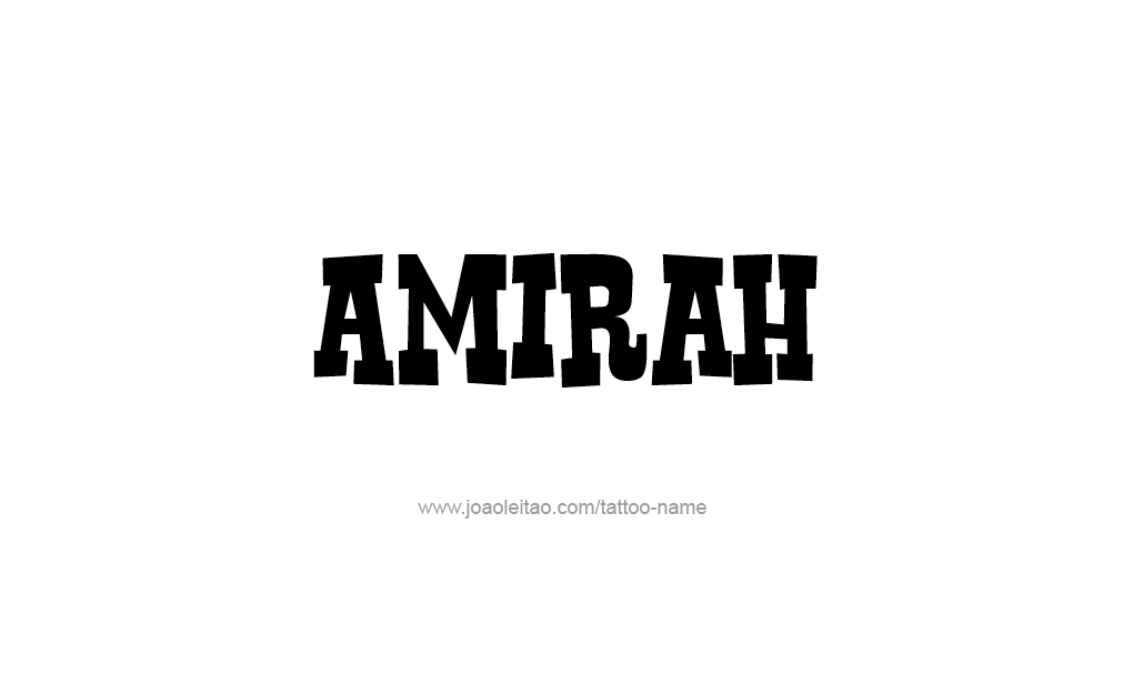 Tattoo Design  Name Amirah