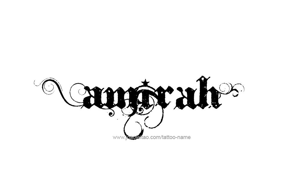 Tattoo Design  Name Amirah