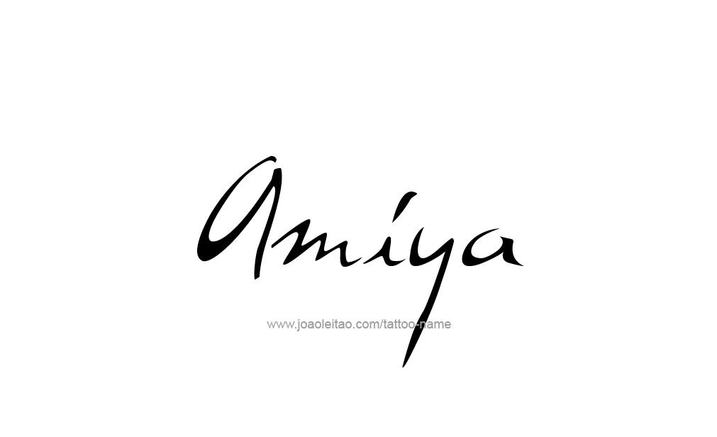Tattoo Design  Name Amiya