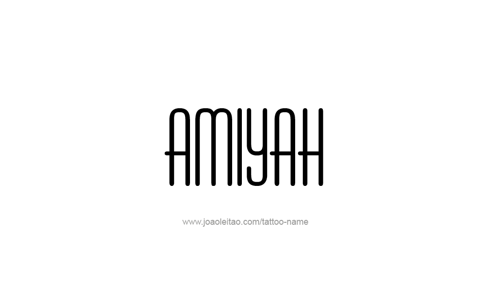 Tattoo Design  Name Amiyah