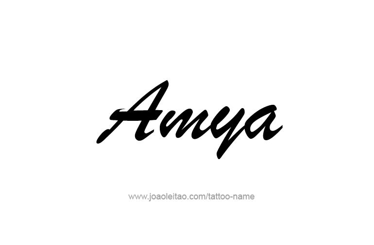 Tattoo Design  Name Amya