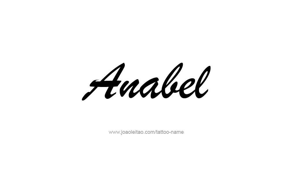 Tattoo Design  Name Anabel