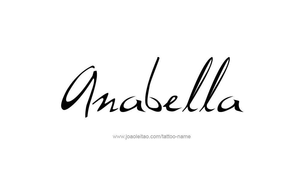 Tattoo Design  Name Anabella