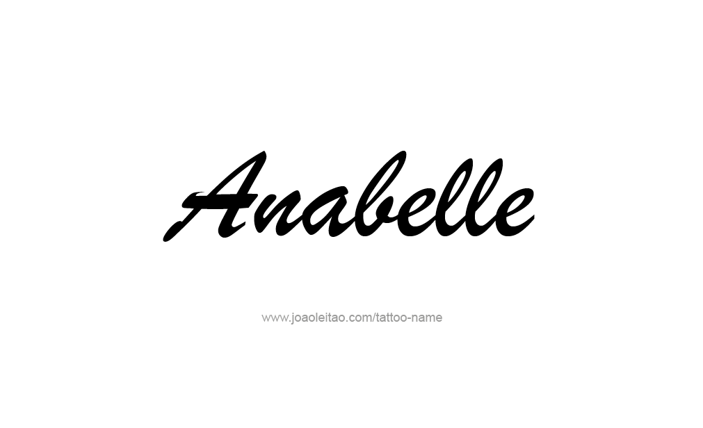 Tattoo Design  Name Anabelle