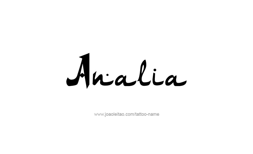 Tattoo Design  Name Analia