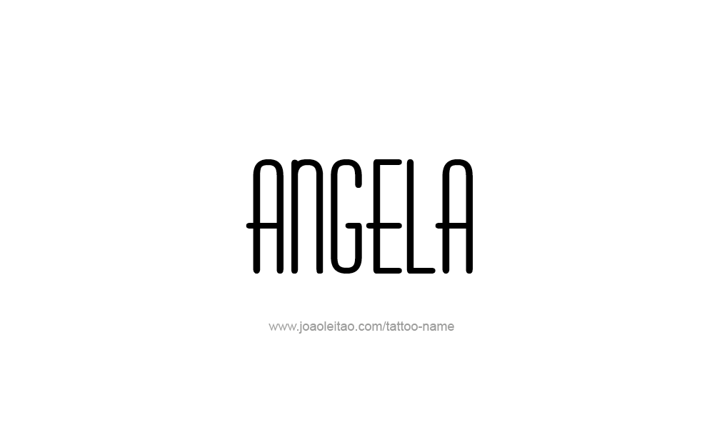 Tattoo Design  Name Angela