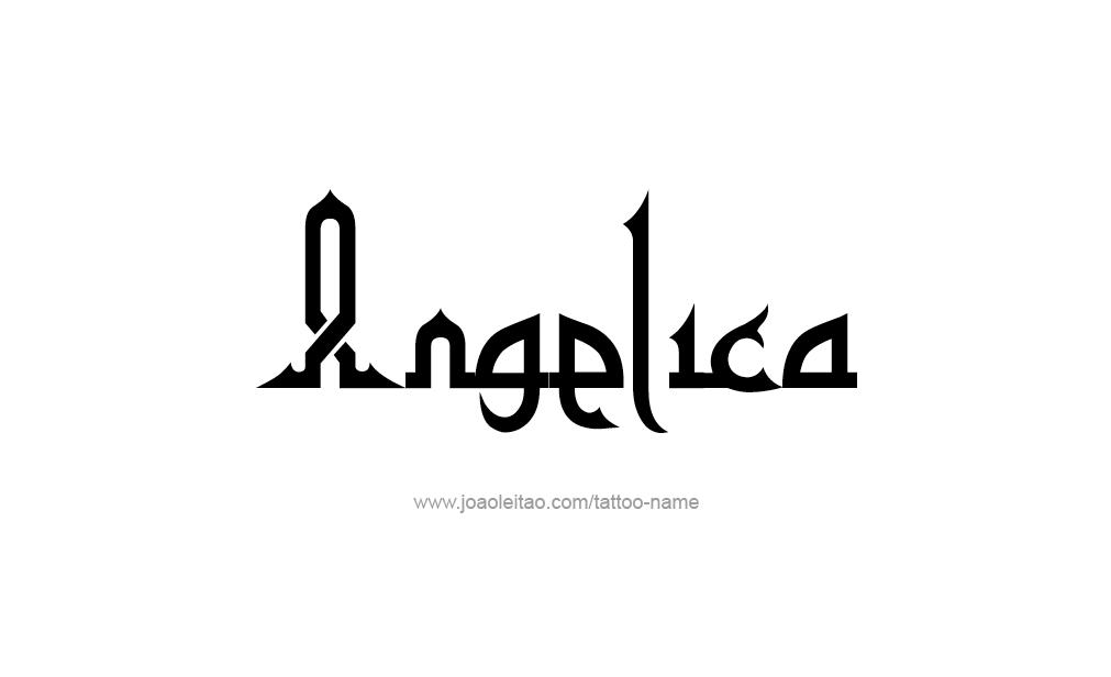 Tattoo Design  Name Angelica