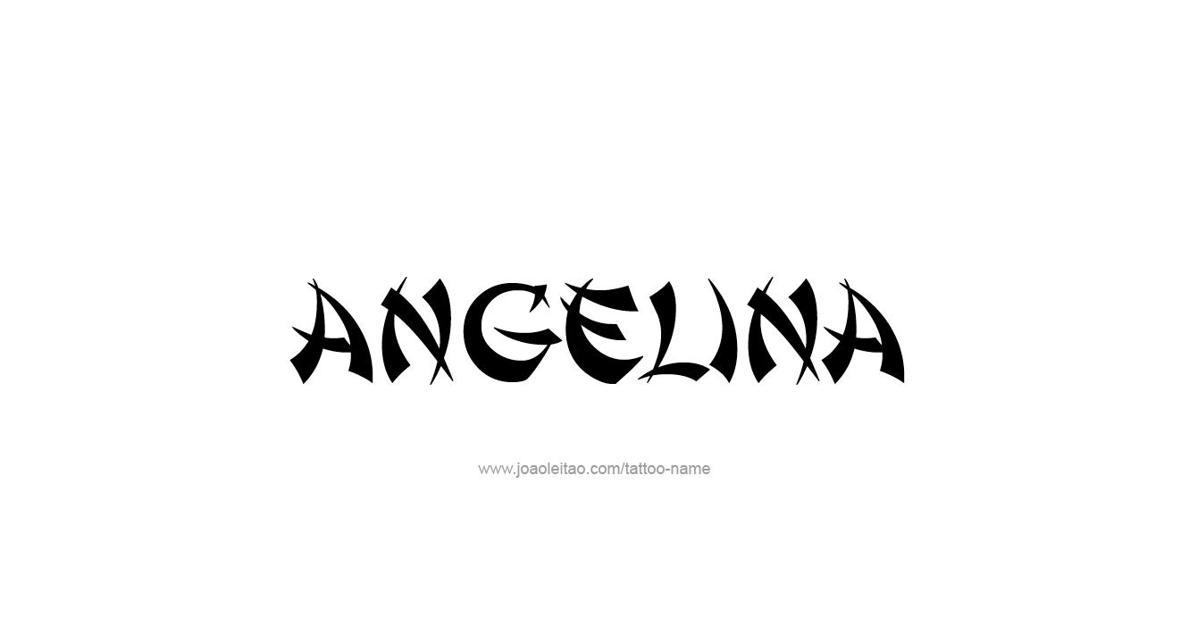Tattoo Design  Name Angelina