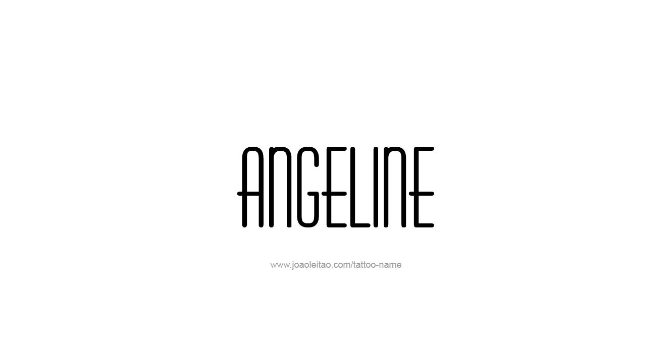 Tattoo Design  Name Angeline