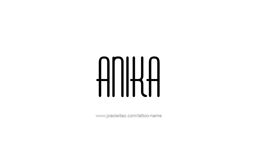 Tattoo Design  Name Anika