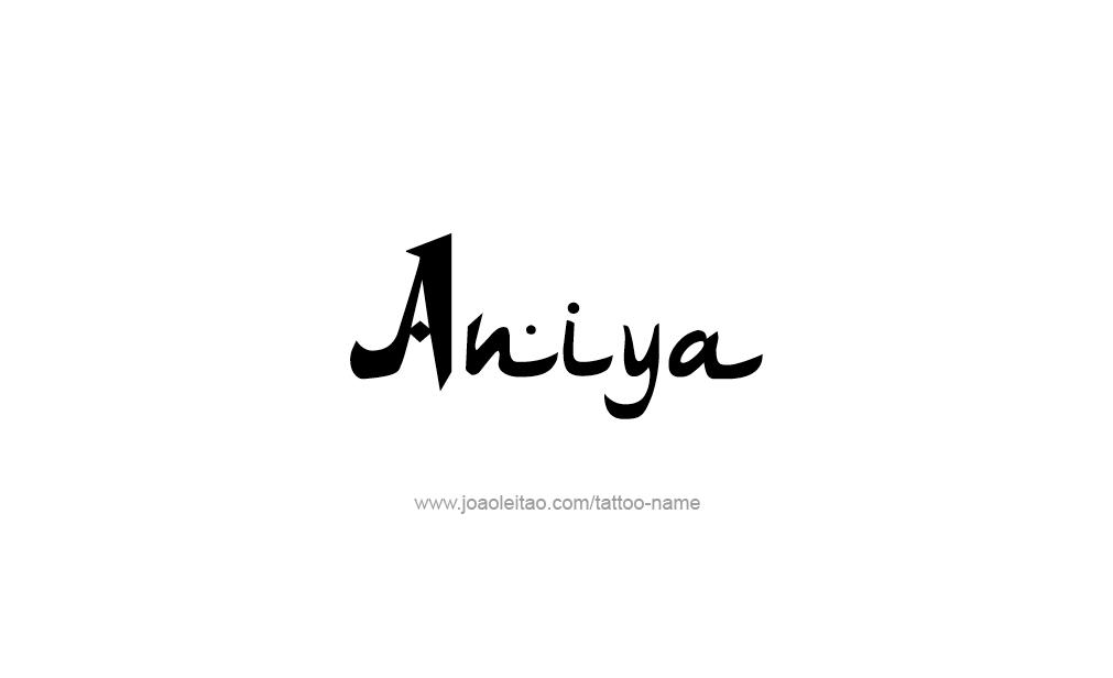 Tattoo Design  Name Aniya