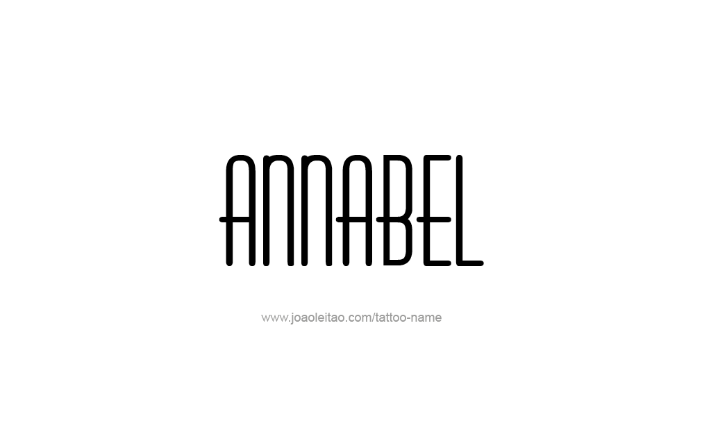 Tattoo Design  Name Annabel