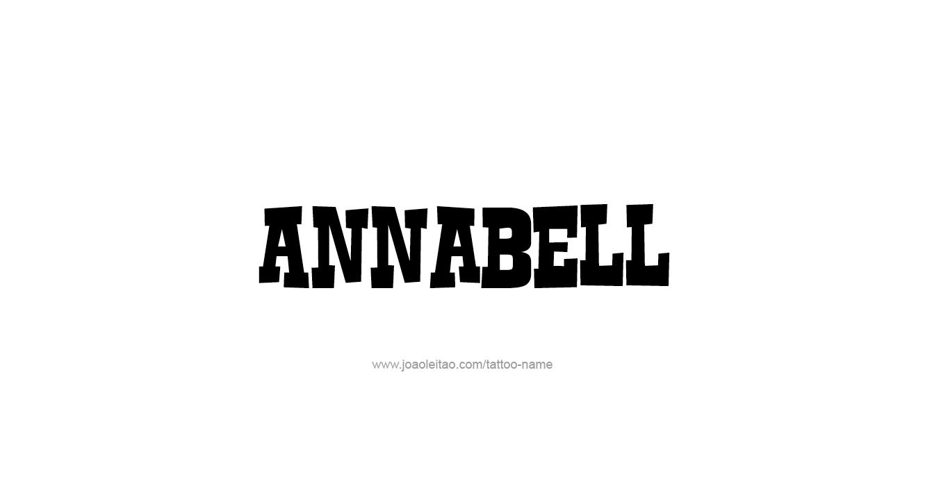 Tattoo Design  Name Annabell