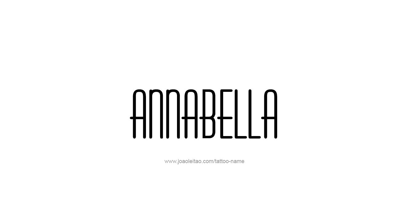 Tattoo Design  Name Annabella