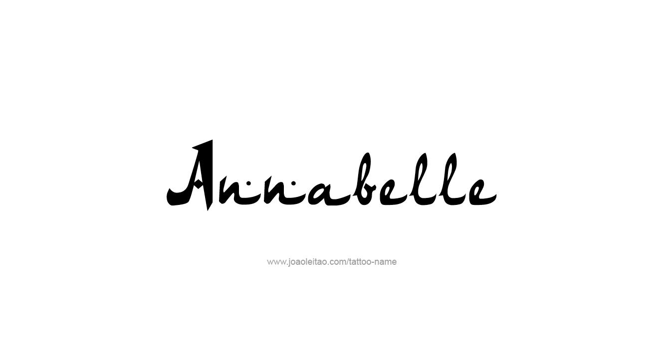 Tattoo Design  Name Annabelle