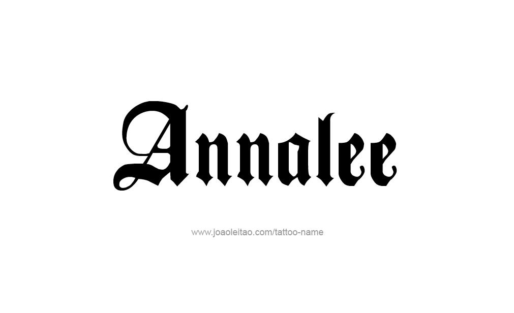 Tattoo Design  Name Annalee