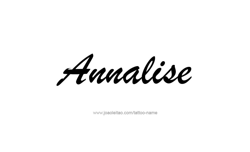 Tattoo Design  Name Annalise