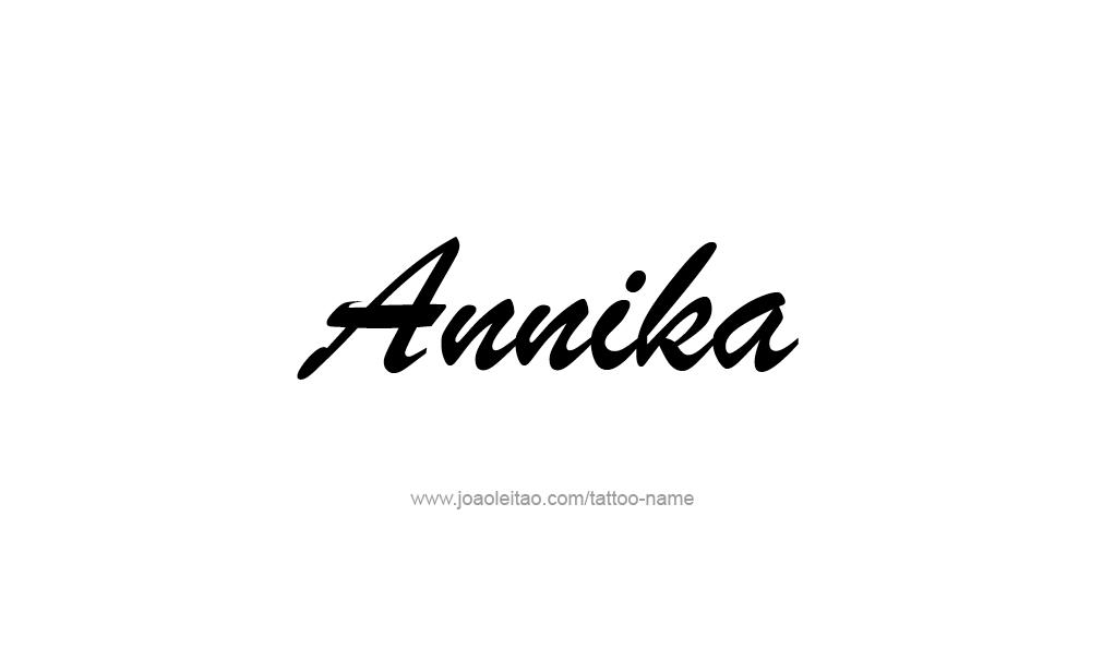 Tattoo Design  Name Annika